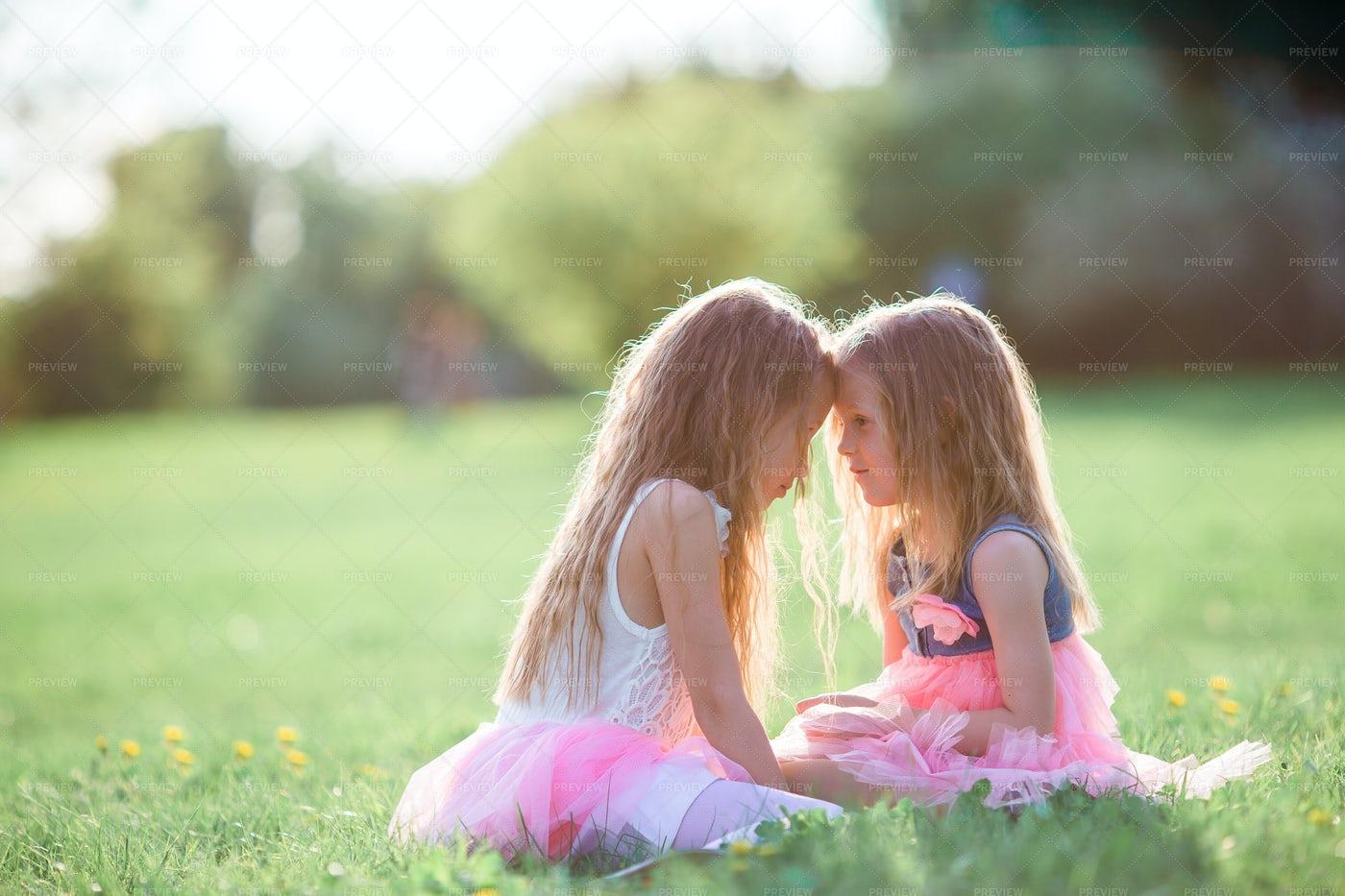 Girls On Spring Day: Stock Photos