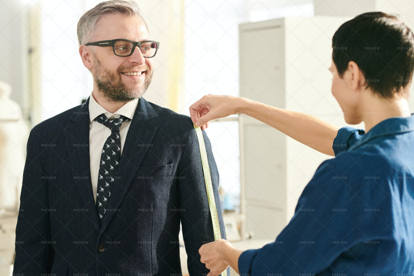 Client And Tailor: Stock Photos