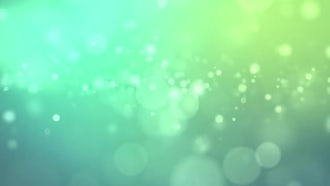 Floating Green Particles: Motion Graphics