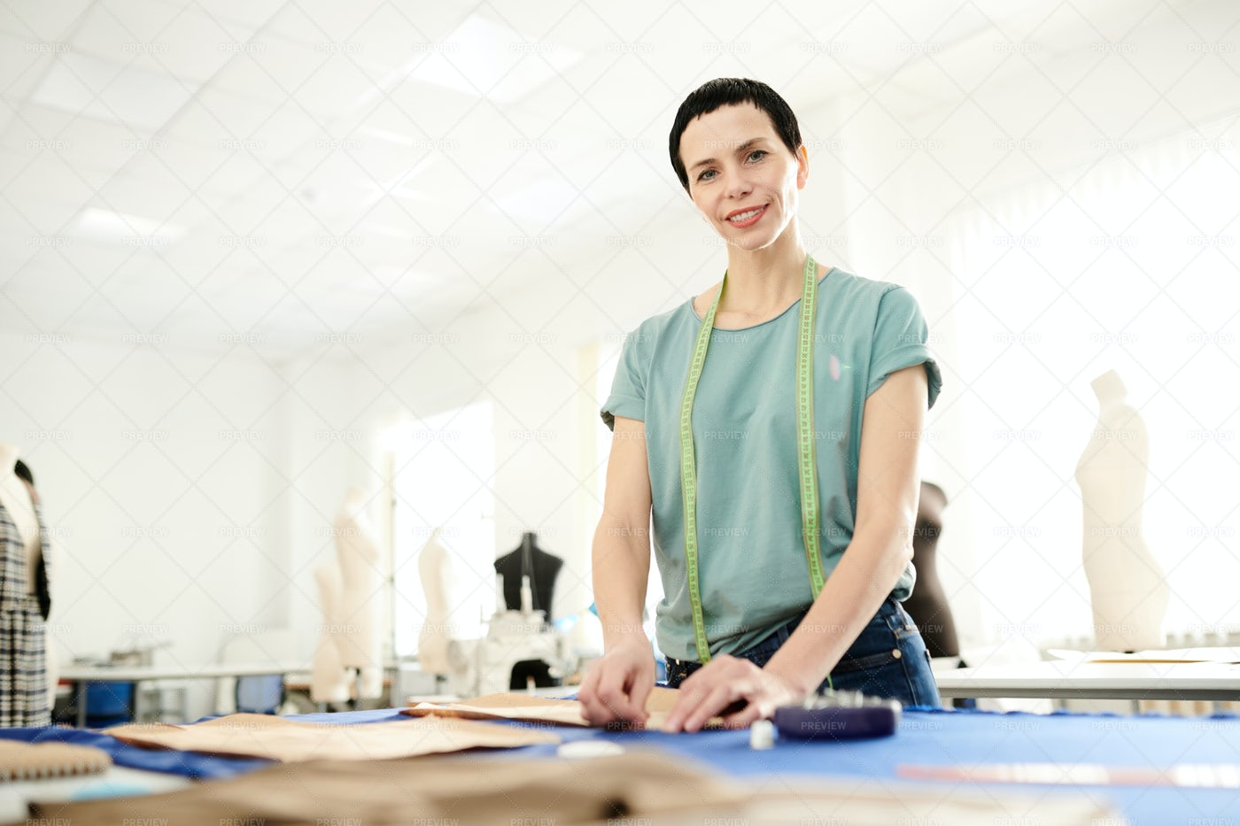Working In Tailoring Shop: Stock Photos