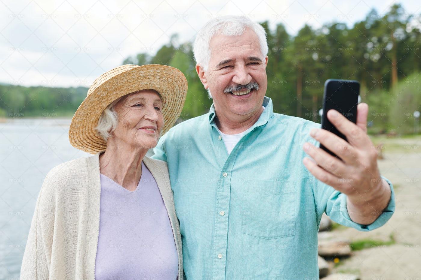 Selfie Of Seniors: Stock Photos
