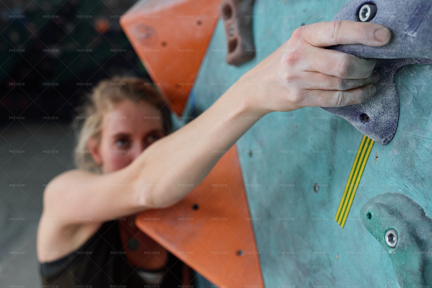 Hand Of Young Female Climber...: Stock Photos