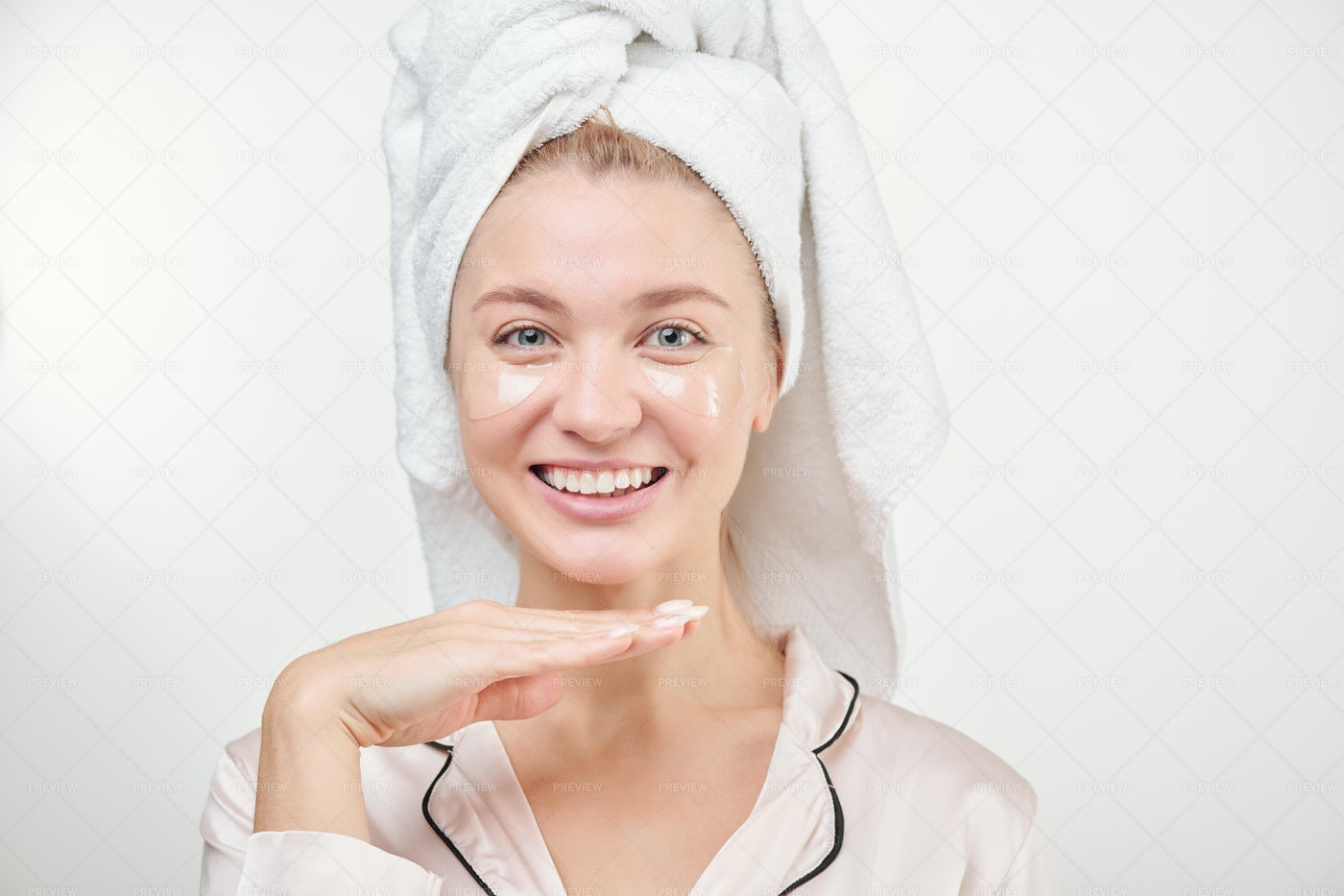 Pretty Young Cheerful Female With...: Stock Photos
