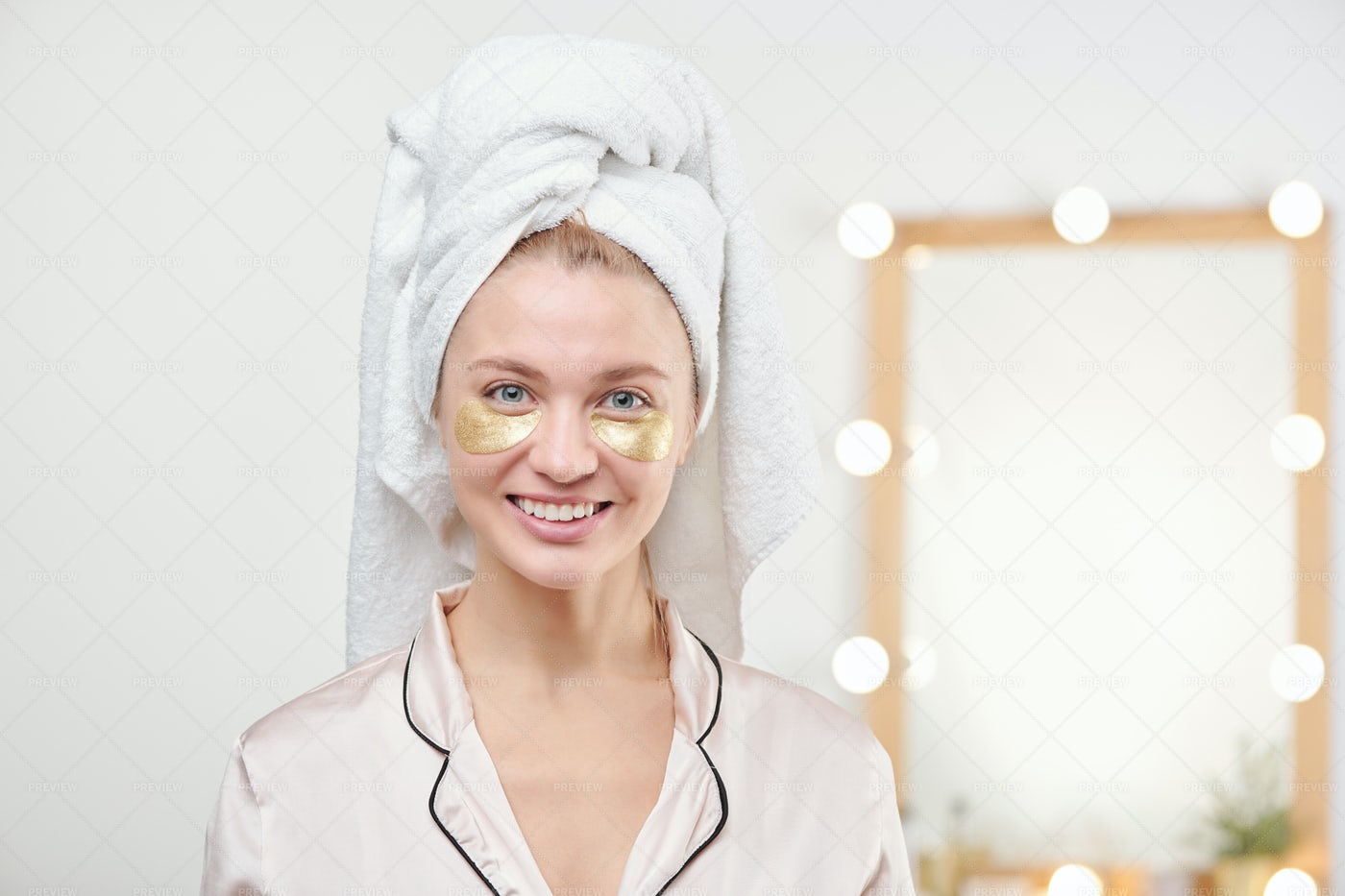 Pretty Young Smiling Female With...: Stock Photos