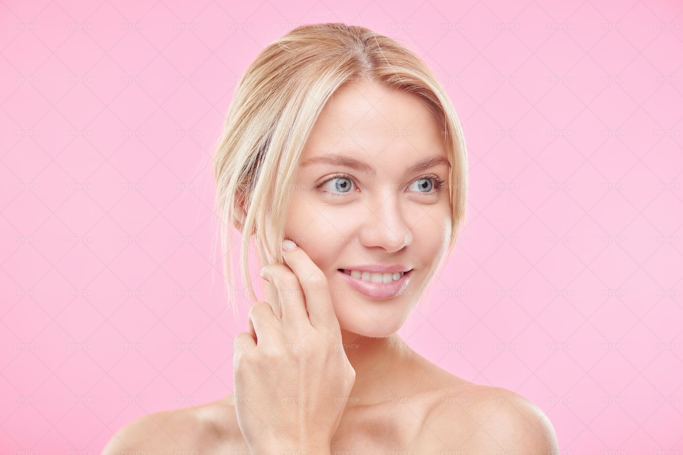 Beautiful Young Blond Woman With...: Stock Photos