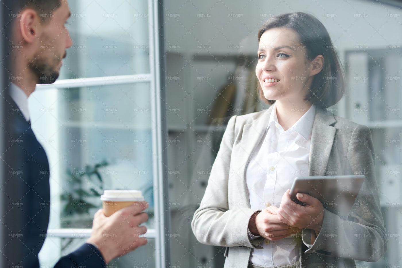 Conversation In Office: Stock Photos