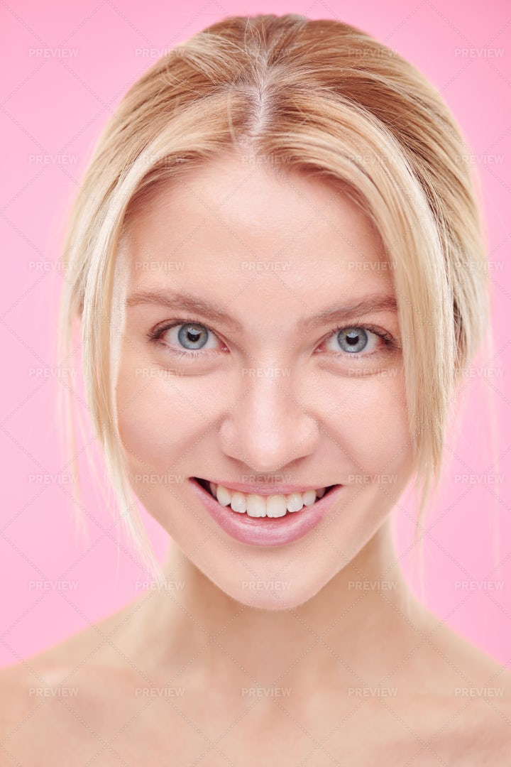 Young Beautiful Smiling Woman With...: Stock Photos
