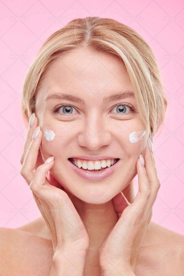 Young Cheerful Woman With Toothy...: Stock Photos