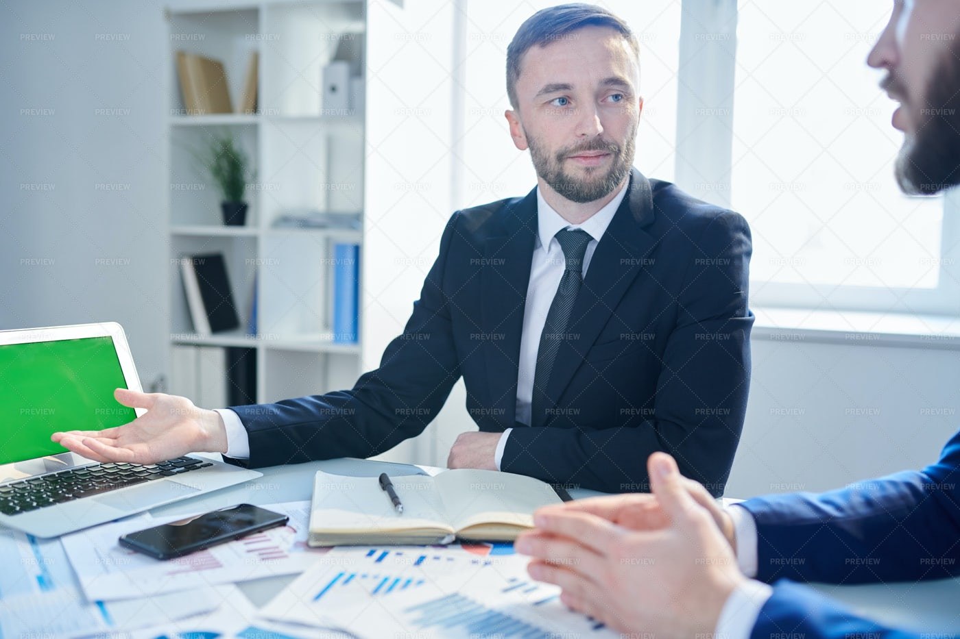Meeting Of Brokers: Stock Photos