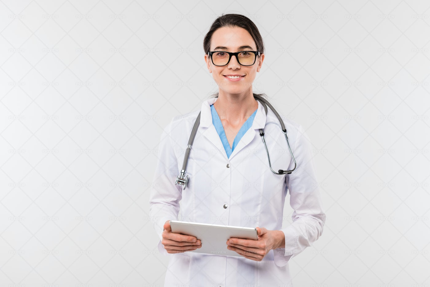 Pretty Young Successful Clinician...: Stock Photos