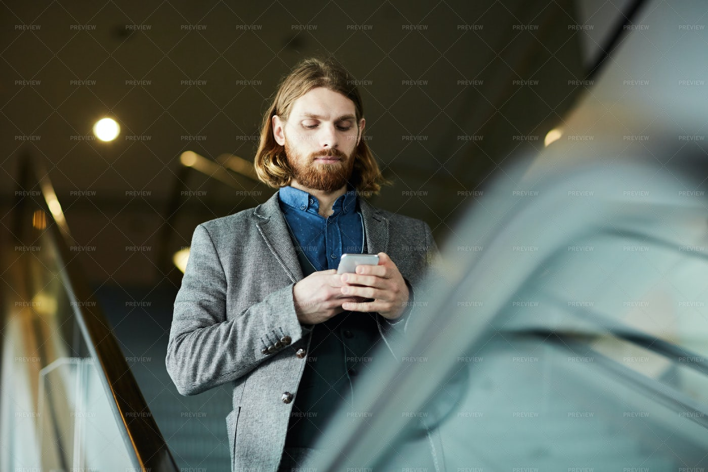 Texting On The Move: Stock Photos