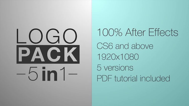 Shape Logo Reveal 5 Pack: After Effects Templates
