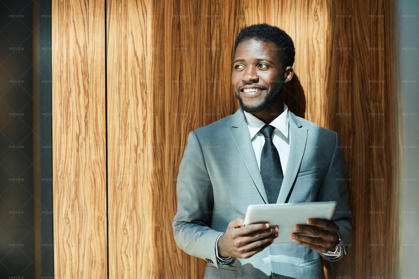 Entrepreneur With Touchpad: Stock Photos