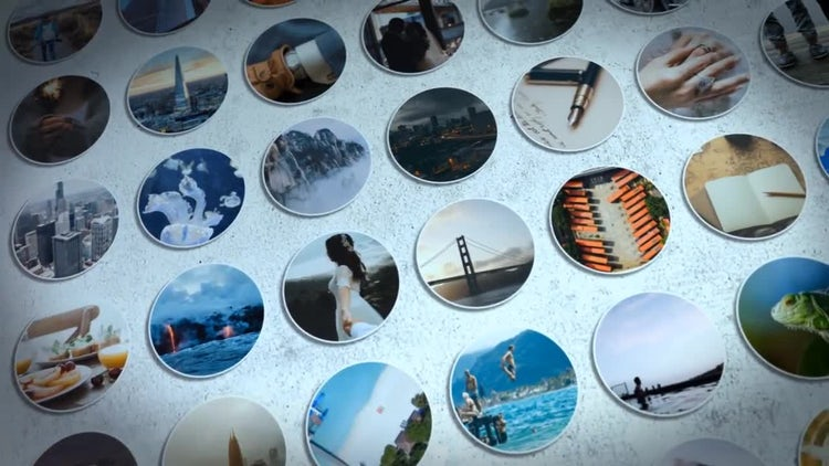 Photo Wall Logo Reveal Slideshow: After Effects Templates