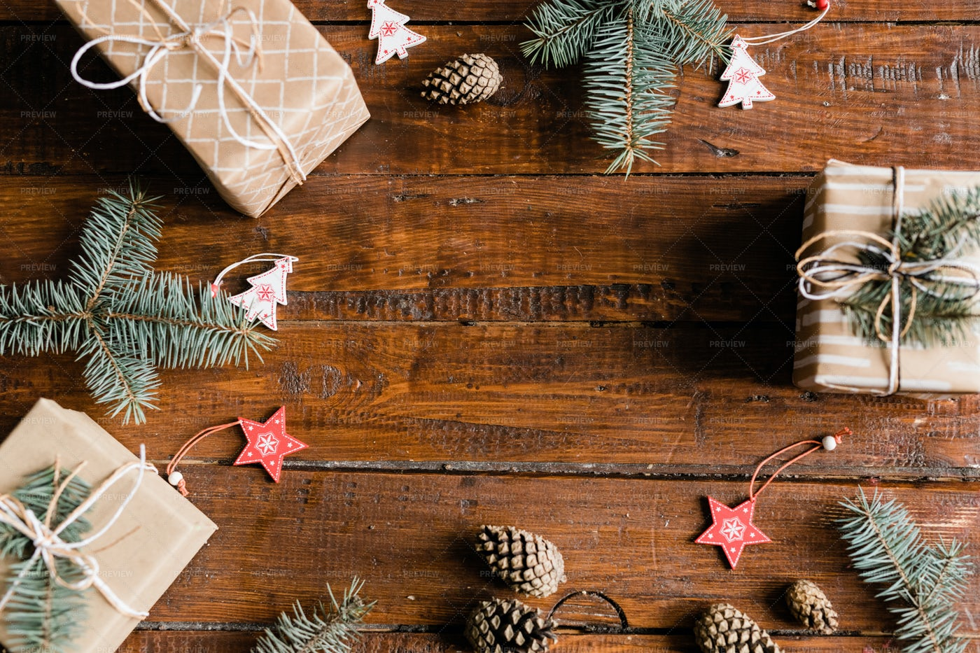 Christmas Background Made Up Of...: Stock Photos