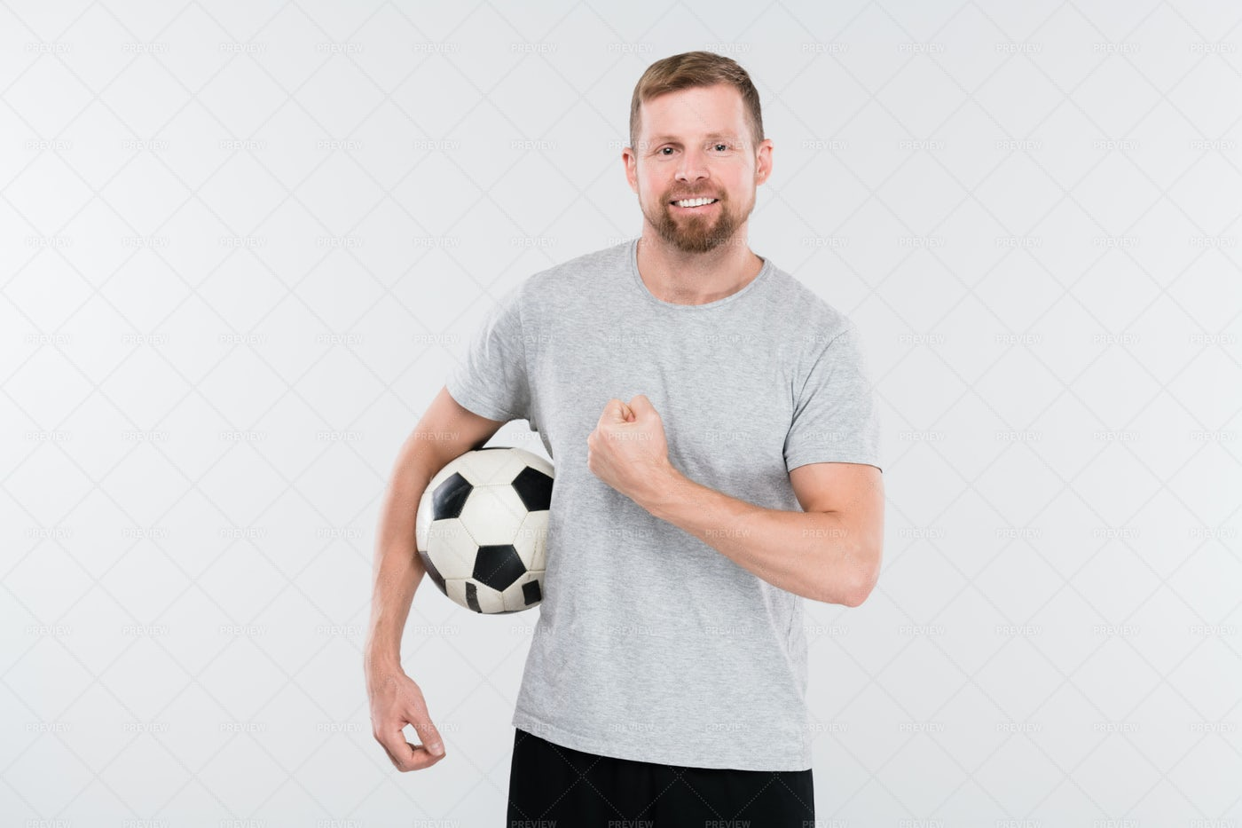Young Successful Soccer Player In...: Stock Photos