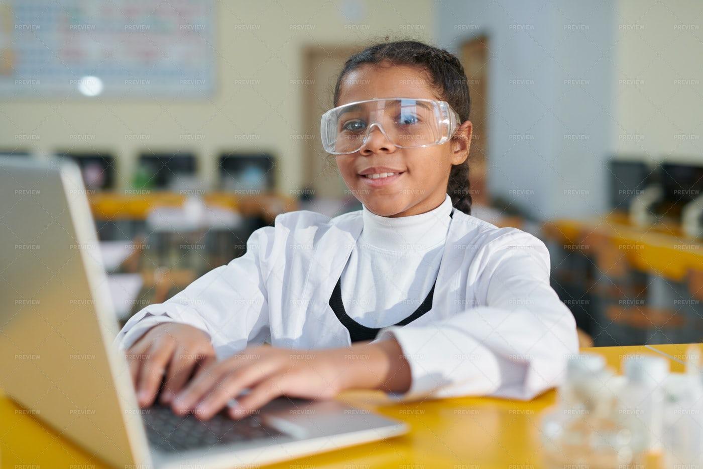 Clever Schoolgirl: Stock Photos