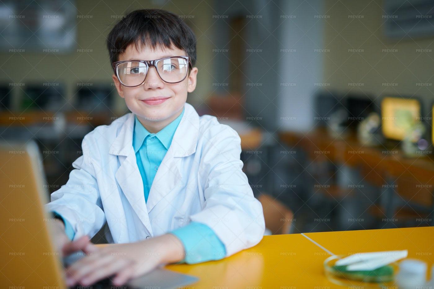 Boy Browsing In The Net: Stock Photos