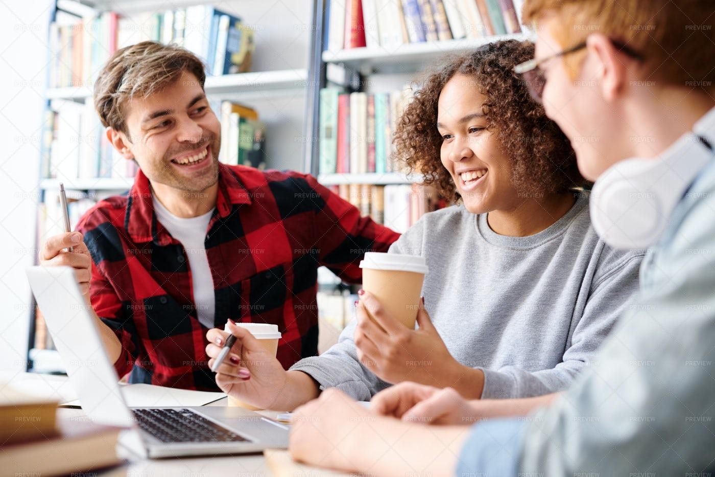 Happy Intercultural Students In...: Stock Photos