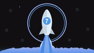 Rocket Launching Countdown: Motion Graphics