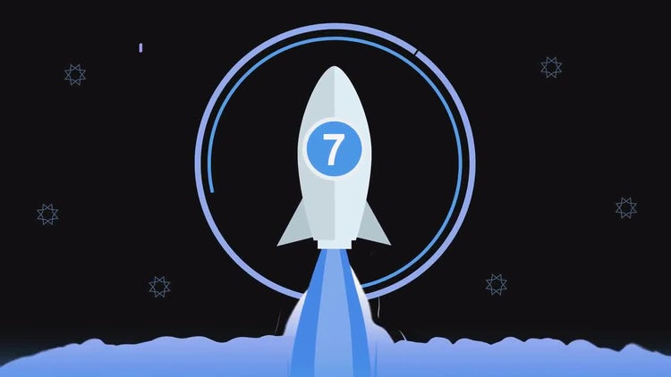 Rocket Launching Countdown: Stock Motion Graphics