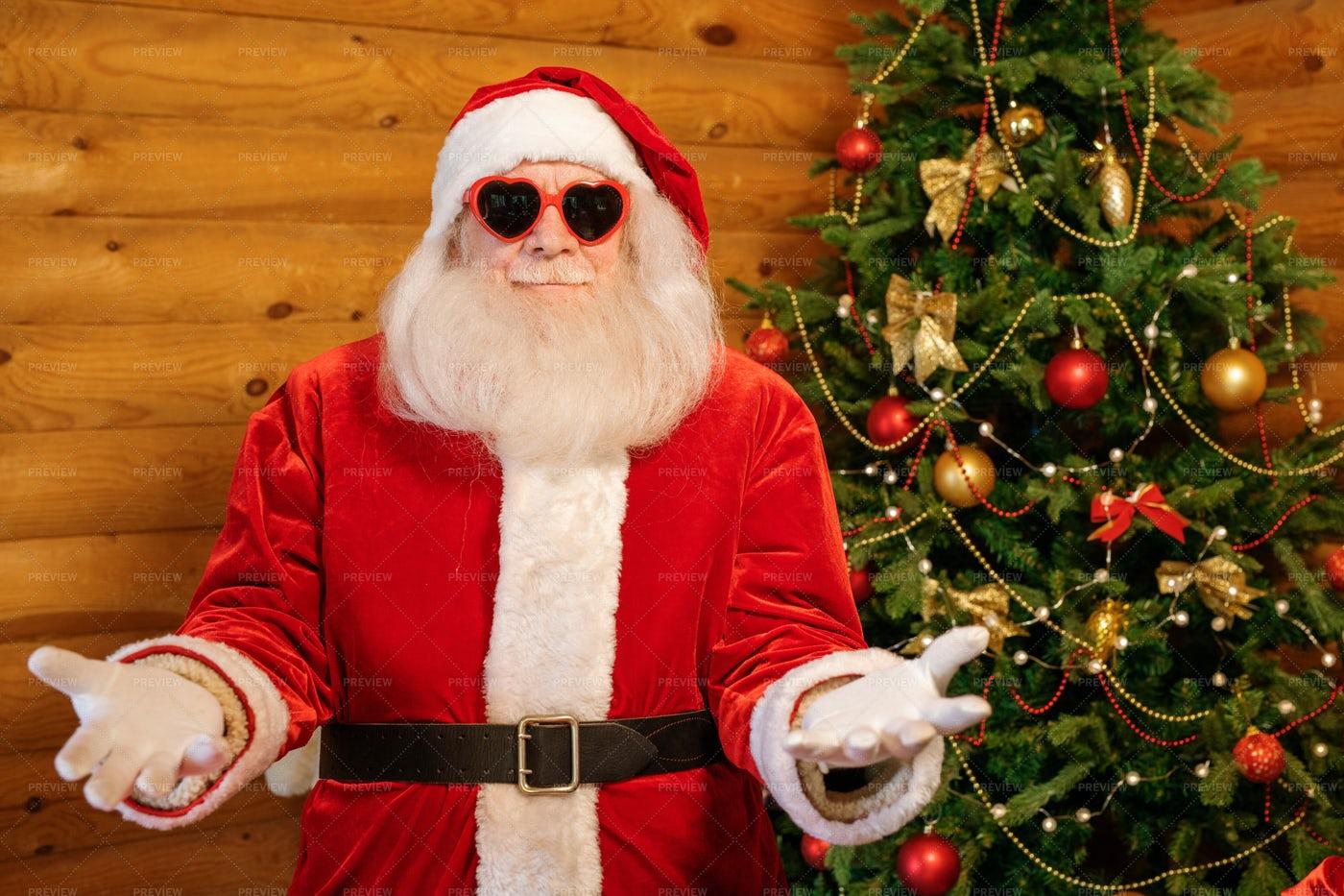 Happy Glamorous Santa Claus In...: Stock Photos