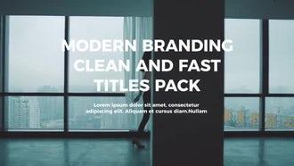 Modern Titles: Premiere Pro Templates