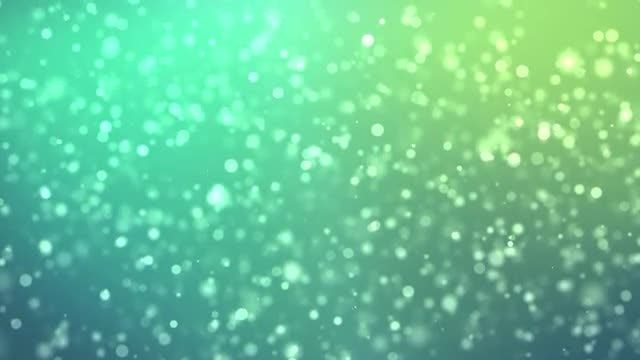 Falling Green Particles: Stock Motion Graphics