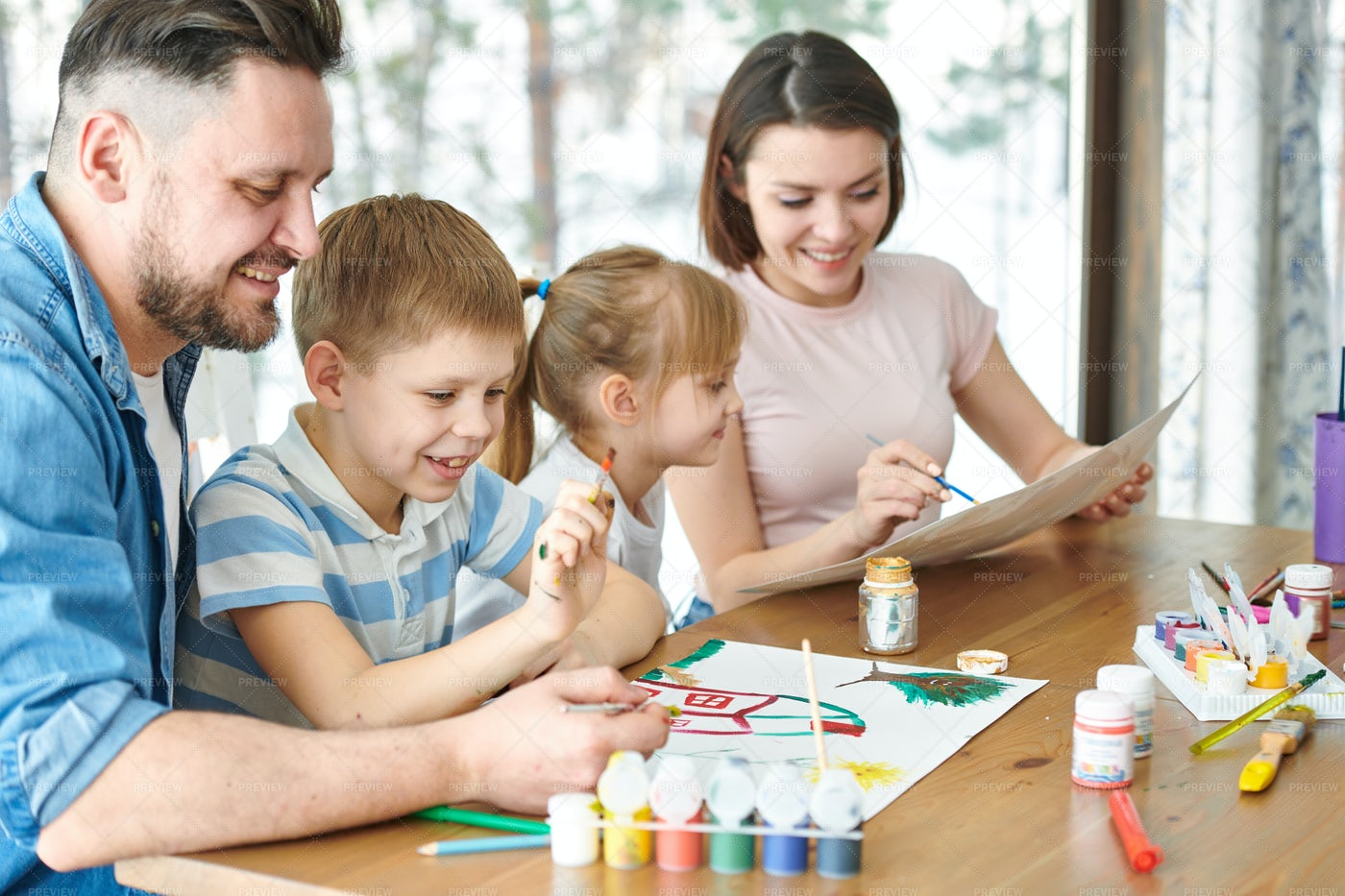 Family Art: Stock Photos
