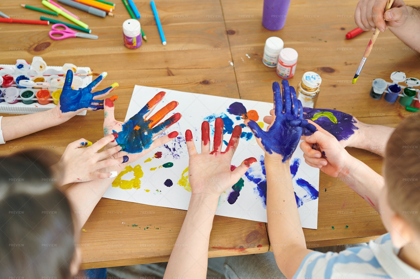 Painting Hands: Stock Photos