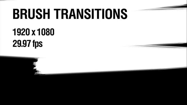 Brush Transitions Pack 1: Stock Motion Graphics