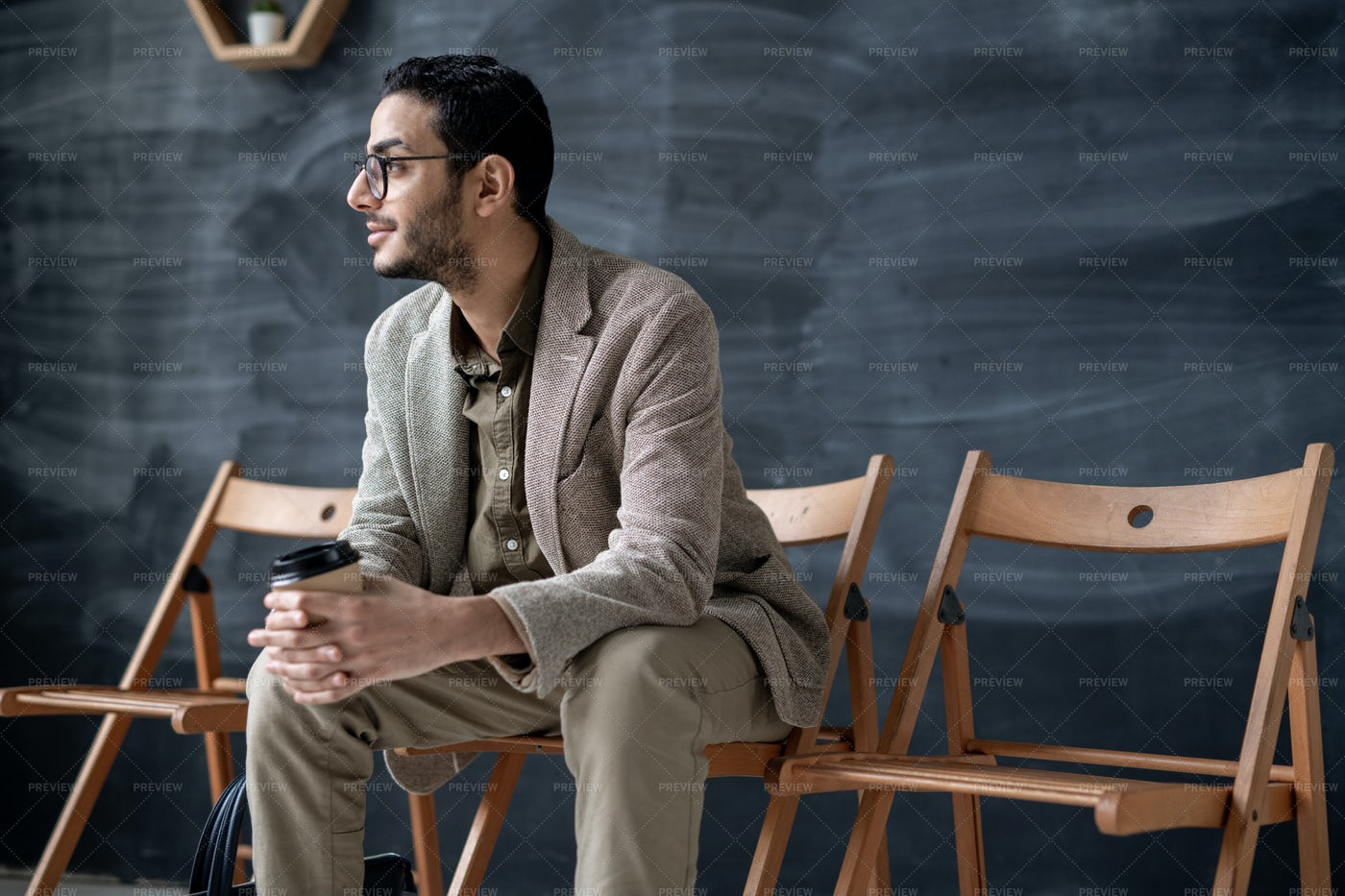 Young Elegant Businessman With...: Stock Photos