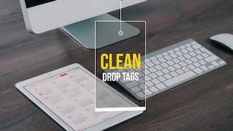 Clean Drop Tags: Motion Graphics Templates