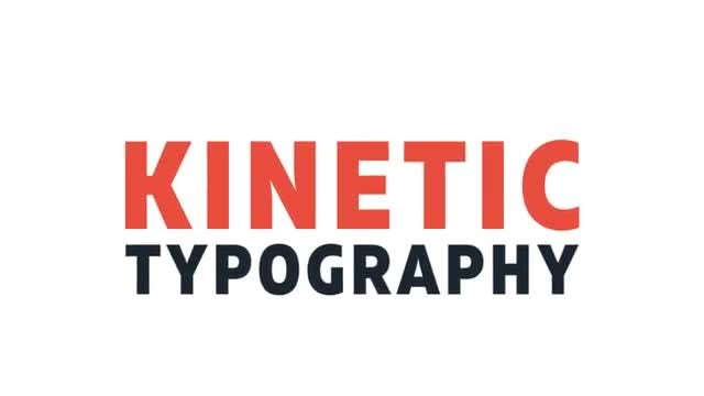 Kinetic Typography After Effects Templates