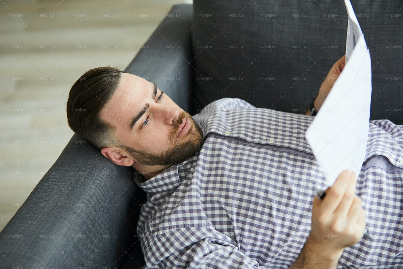 Man With Papers: Stock Photos