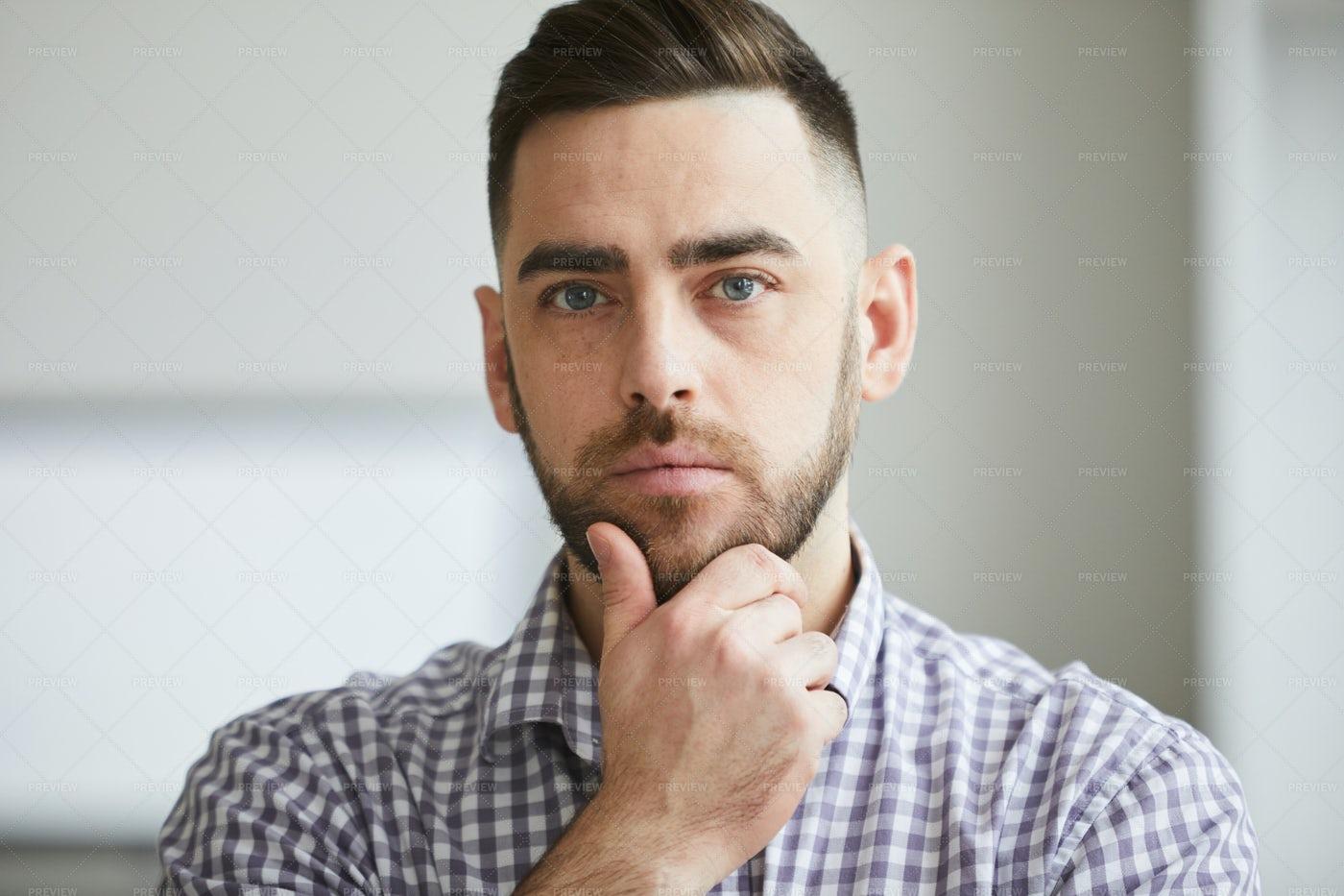 Young Serious Man: Stock Photos