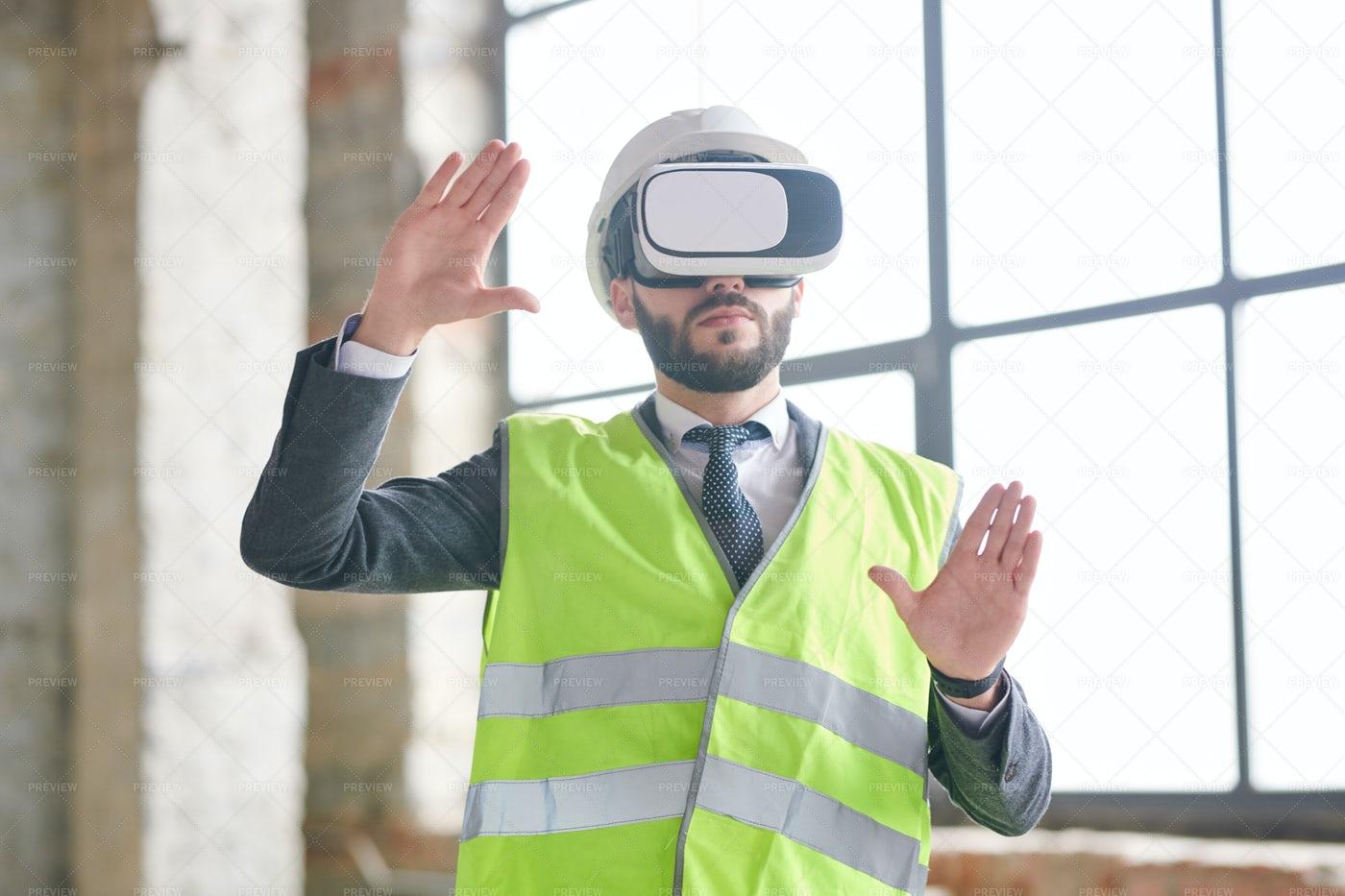 Engineer In Virtual Reality: Stock Photos