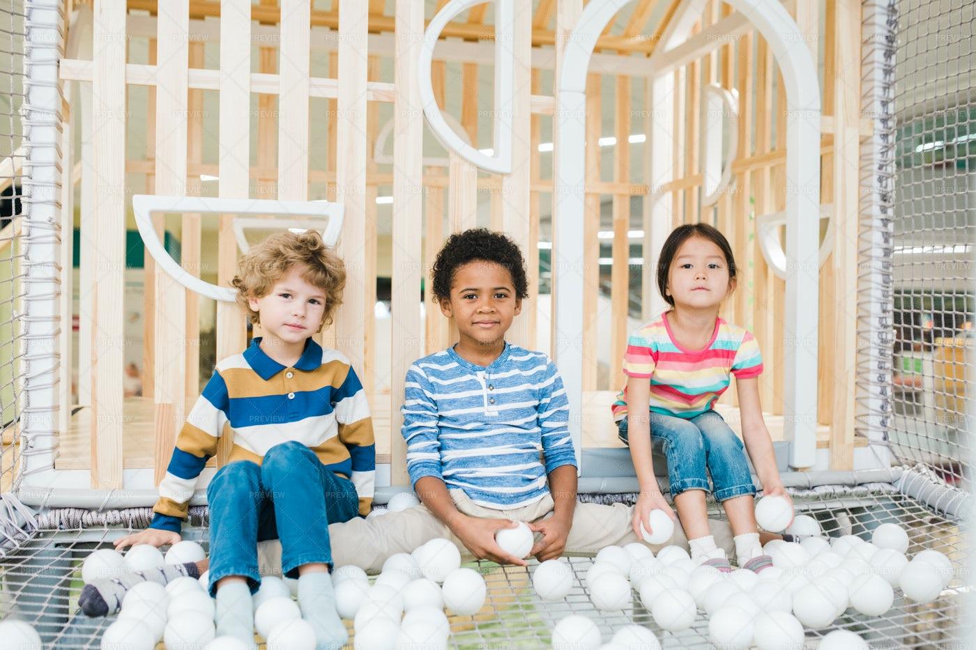 Three Cute Children Of Various...: Stock Photos