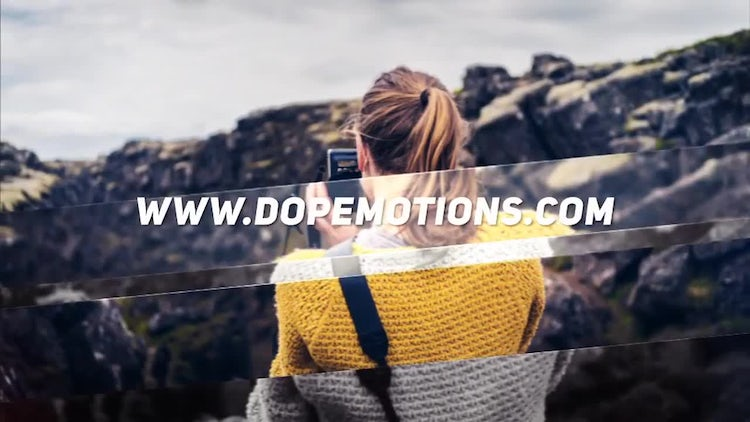 Simple Clean Slideshow : After Effects Templates