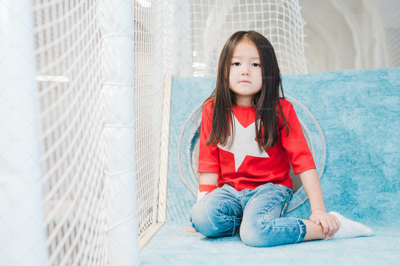 Pretty Little Asian Girl With Long...: Stock Photos