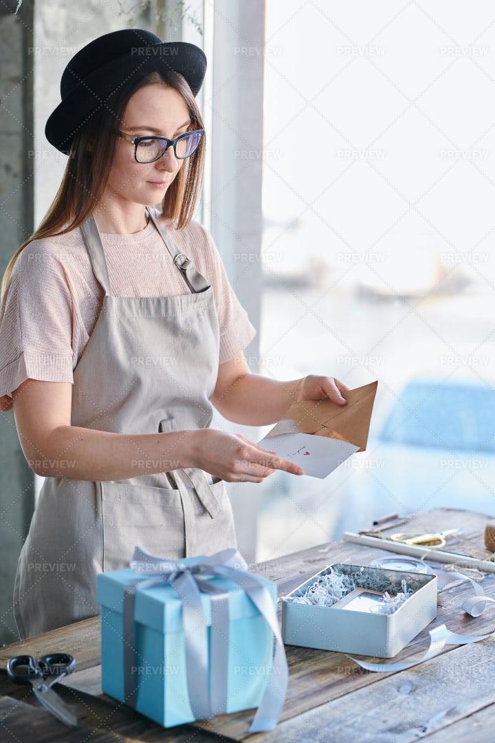 Preparing Greeting Card: Stock Photos