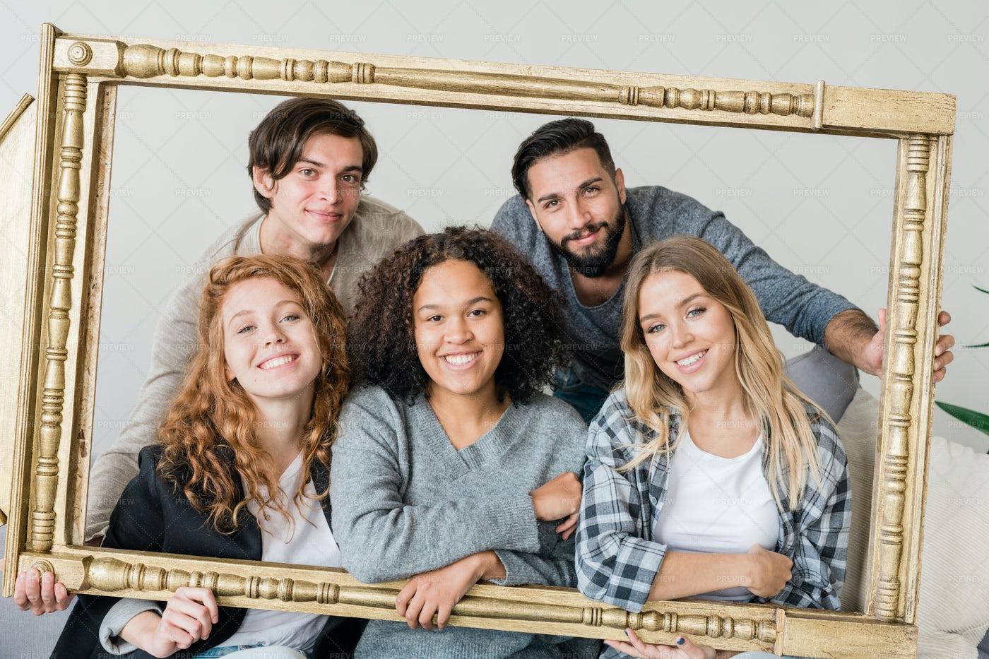 Group Of Young Intercultural...: Stock Photos