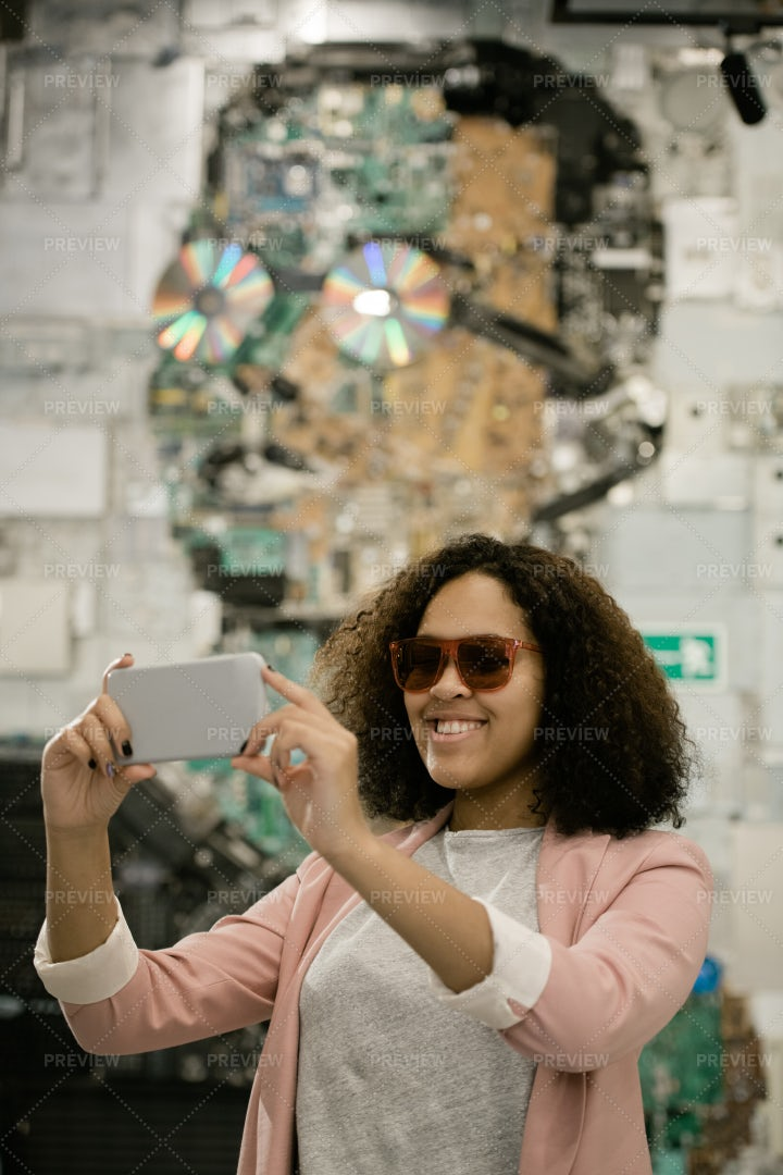 Happy Young Intercultural Female...: Stock Photos