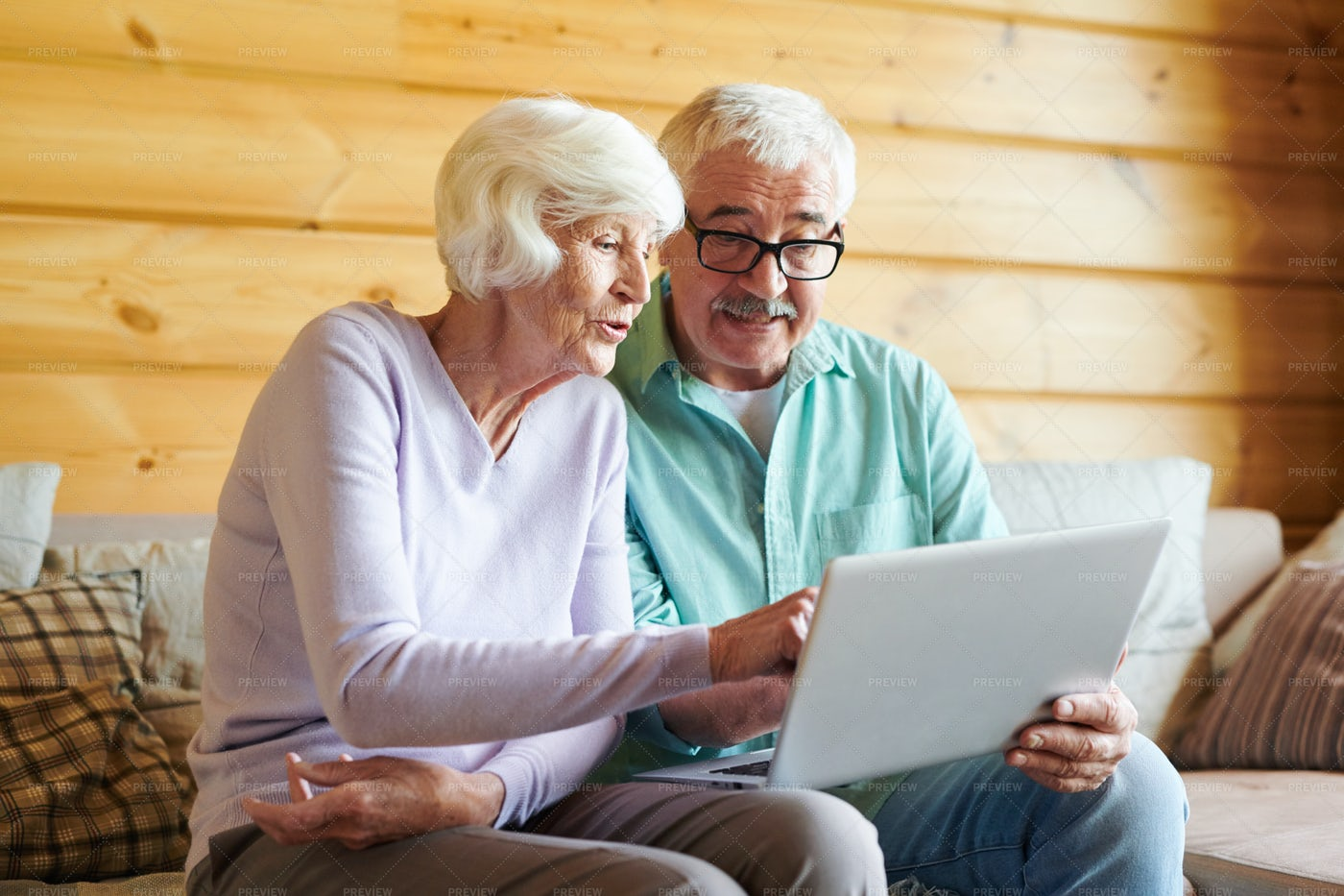 Seniors In The Net: Stock Photos