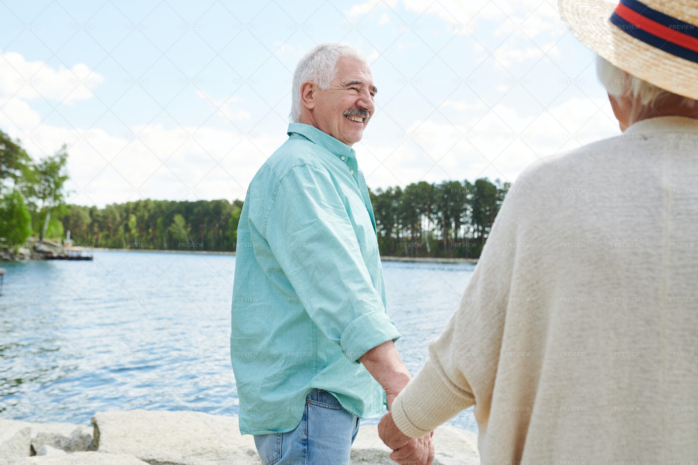 Seniors In The Country: Stock Photos