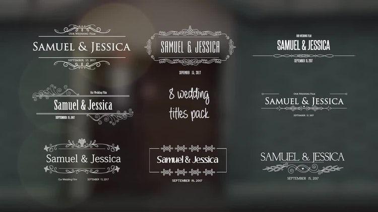 Wedding Titles: Motion Graphics Templates