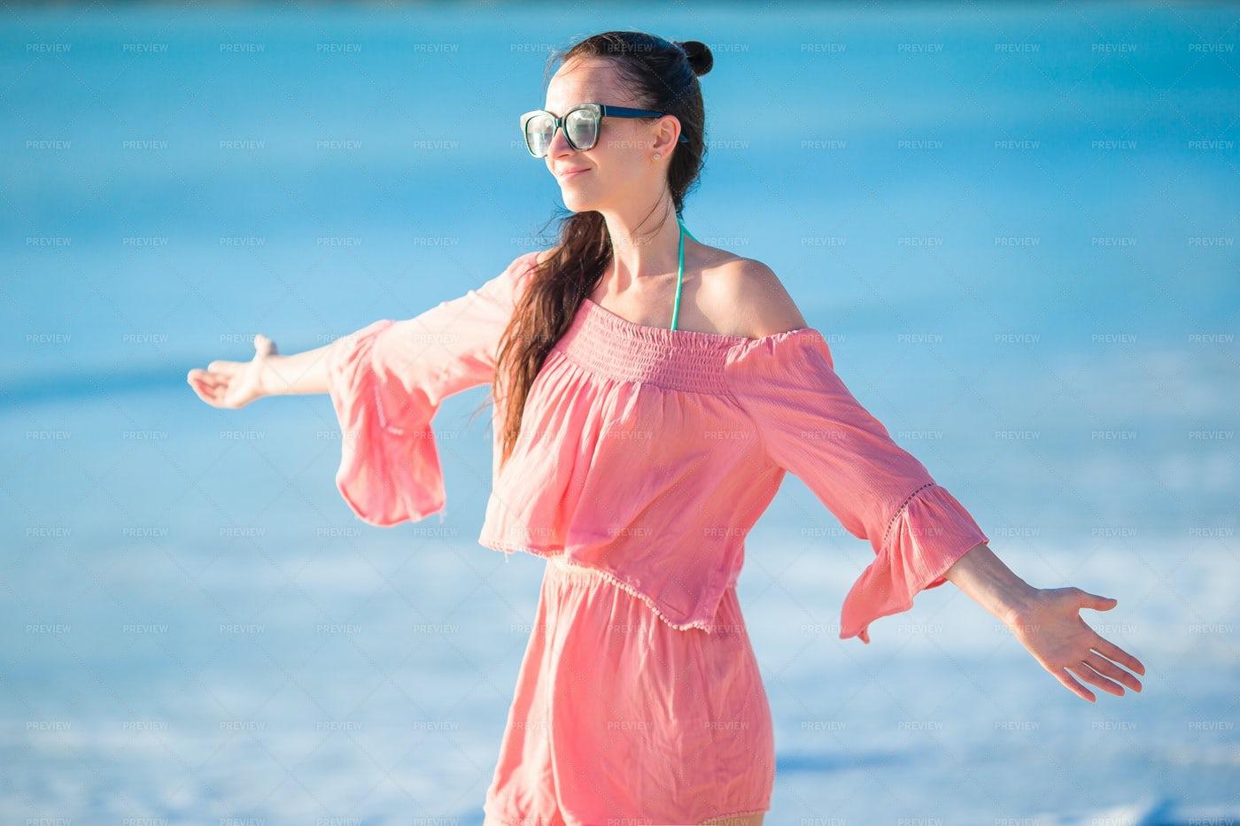 Woman On The Beach: Stock Photos