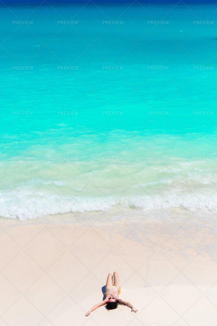 Girl At Beach: Stock Photos