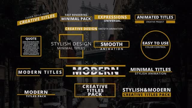 15  Minimal & Modern Titles: After Effects Templates