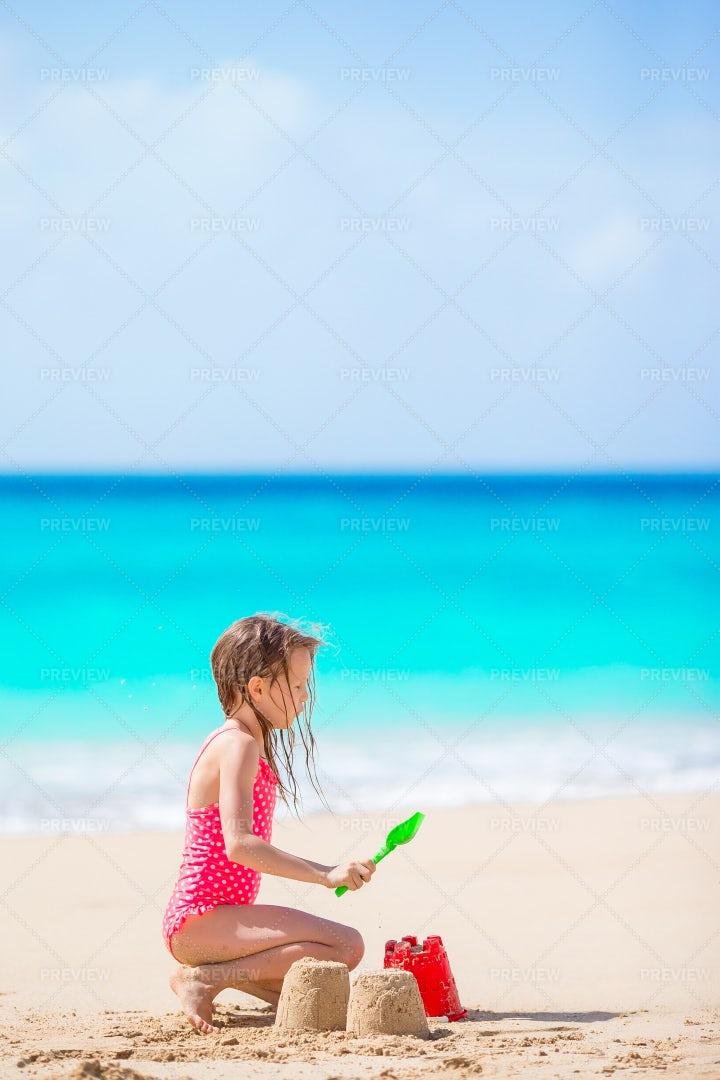 Sandcastles On Vacation: Stock Photos